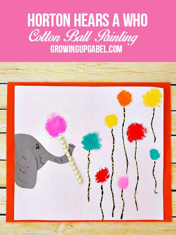 Grab the kids, some paint and cotton balls to create Horton the Elephant and his clovers! A fun kids craft celebrating Dr. Seuss!
