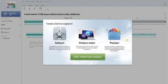 Yandex.Disk / Rus arama motorunun yeni servislerinden Yandex.Disk listemize bonus bulut paylaşım depolama hizmeti olarak giriyor. Ücretsiz sunduğu 10 GB depolama alanıyla iddialı bir giriş yapan servis, Yandex.Mail'e entegre olarak çalışıyor.  http://sosyalmedya.co/bulut-depolama-servisleri/11/