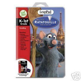 LeapPad® Educational Game: Ratatouille by LeapFrog. $45.99. From the Manufacturer                Anyone can cook - and you can help Remy prove it! Discover French words, nutrition, table manners and essential preschool skills as you help Remy and Linguini become two of the best chefs in Paris!    What it Teaches:  * Reading Comprehension  * Vocabulary  * Spelling  * Parts of Speech  * Emotions  * Deductive Reasoning  * French Culture & Language                 ...