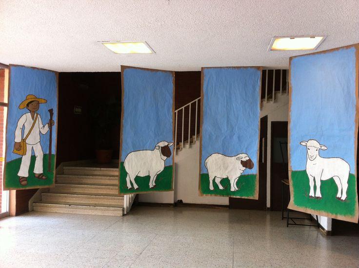 Escenarios para certamen sobre Benito Juárez Colegio Lestonnac / Ilustraclaus