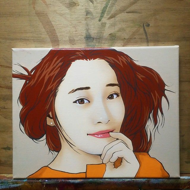 Acrylic on canvas 2015 곧 샵이 오픈합니다~! #portrait #drawing #dessin #sketch#illustration #instaart #baby#art#painting #셀피 #셀스타그램 #드로잉 #스케치 #쇼콜라캔버스 #일러스트 #그림#인물화#초상화#팝아트#popart