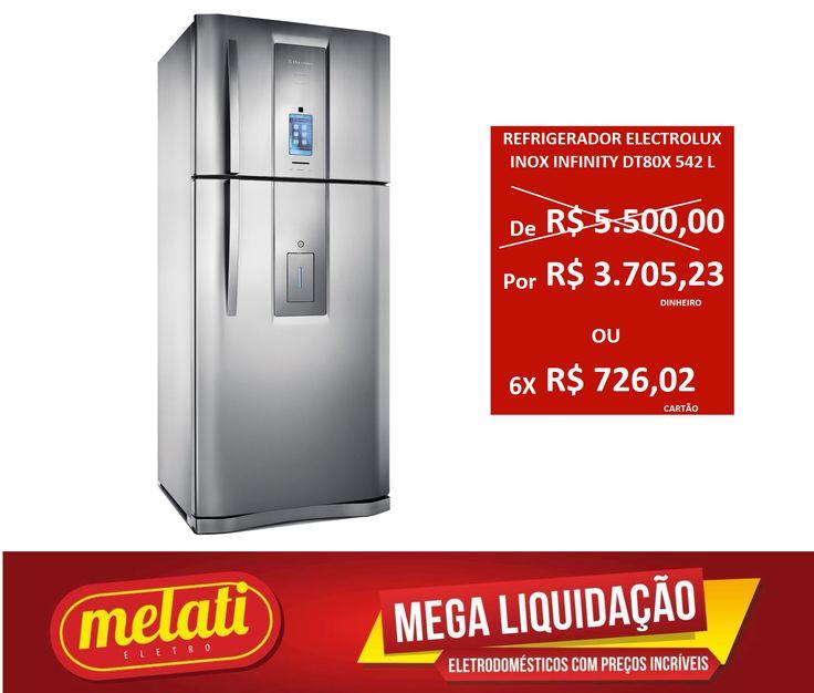 SALDÃO REFRIGERADOR ELECTROLUX INOX LINHA INFINITY DT80X 542 LITROS ========================================== CLASSIFICAÇÃO DO PRODUTO SALDO => https://www.melatieletro.com.br/pagina/nossos-produtos.html  ==========================================  📌 ❶ A͟͟N͟͟O͟͟ D͟͟E͟͟ G͟͟A͟͟R͟͟A͟͟NT͟͟I͟͟A͟͟ CONTRA DEFEITO FUNCIONAL  ==========================================  🚛 F͟͟R͟͟E͟͟T͟͟E͟͟ G͟͟R͟͟A͟͟T͟͟I͟͟S͟͟ consulte as regras do frete grátis ==========================================  📍ENDEREÇO DA…