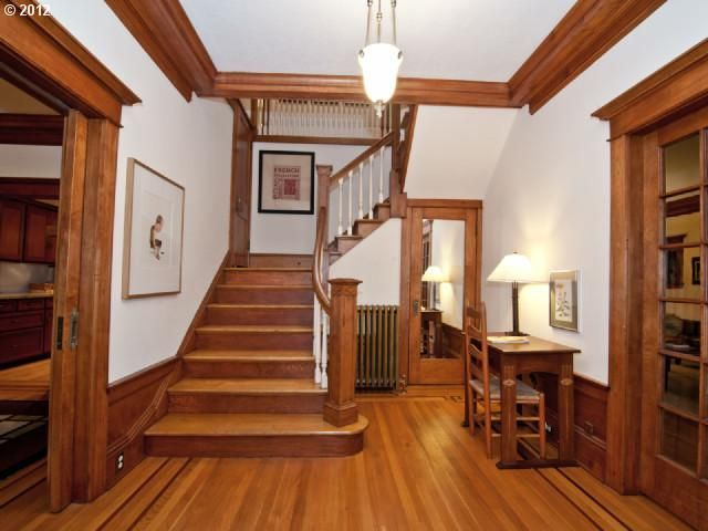 Fantastic California Mission Style Craftsman in prime Laurelhurst neighborhood (Portland, Oregon) features rich woodwork throughout, beautiful kitchen with island, fireplace, granite counters, and stainless steel appliances. Original 1913 skylight brings in tons of natural light. $800000