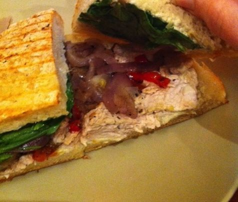 Roast Turkey Artichoke Panini from Panera