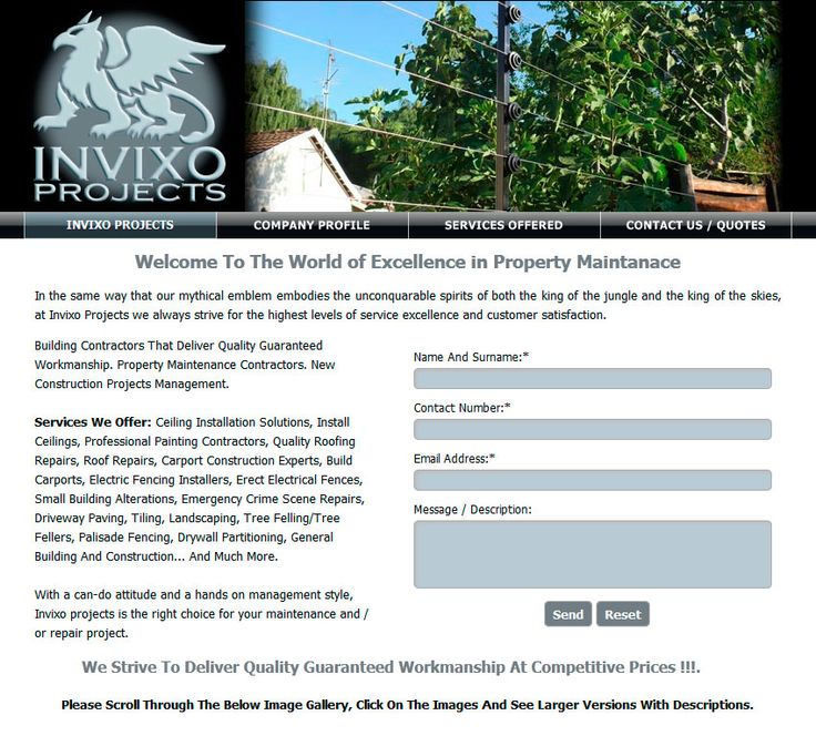 Website Design By DRAGAN GRAFIX - Building, Property Maintenance Contractors - INVIXO PROJECTS, Building Contractors That Deliver Quality Guaranteed Workmanship. Professional Property Maintenance Contractors. New Construction Projects Management. http://www.invixoprojects.co.za