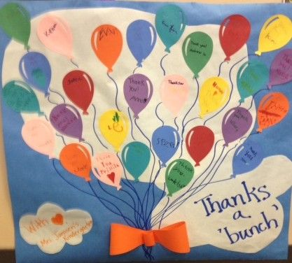 Look at these cute ideas for volunteer thank you posters made by students to thank the volunteers that helped out in their school.
