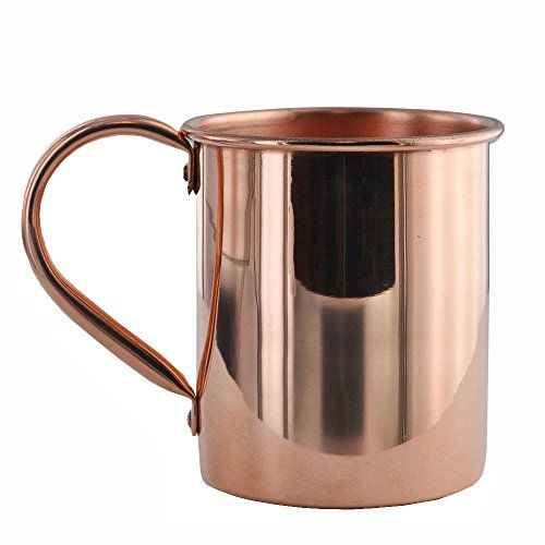 Moscow Mule Mug By Solid Copper Mugs | Highest Quality 16 Oz Capacity with Smooth Finish | 100% Solid Copper with Riveted Handle - No  Lining or Lacquer Finish to Ensure Citric Acid to Copper Reaction for which Moscow Mules Are Known | 1 Year Guarantee.  12/2014 for Marielle