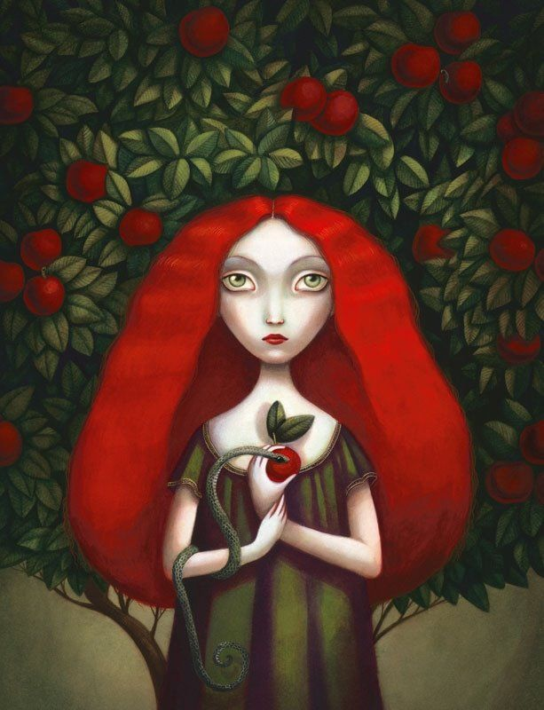 by Benjamin Lacombe [redhead eve]