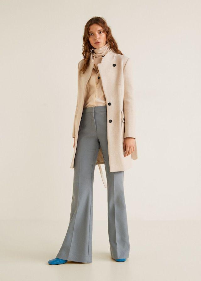1b53cf1fbbb Mango MARTE Manteau en laine avec ceinture - Manteau Femme Mango en ...