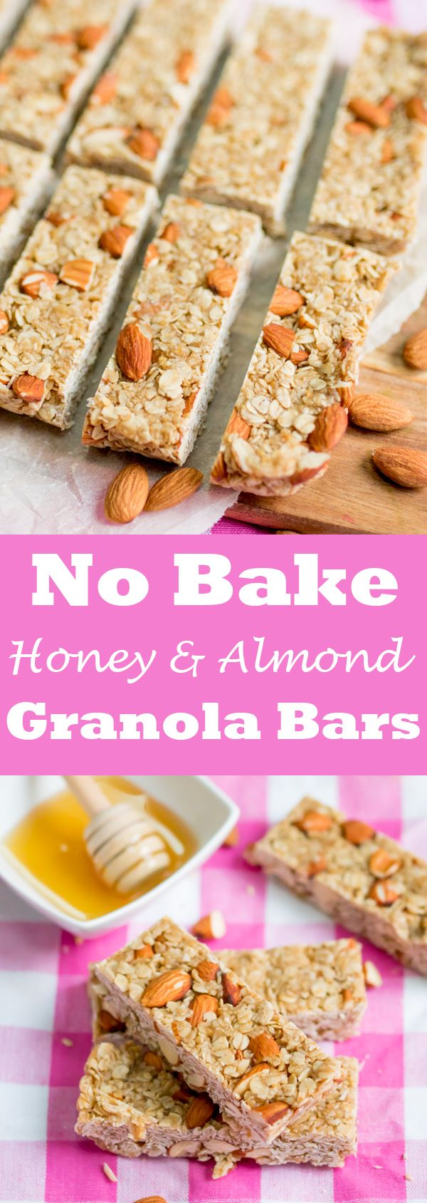 NO-BAKE HONEY and Almond GRANOLA BARS – a simple recipe for breakfast on the go!