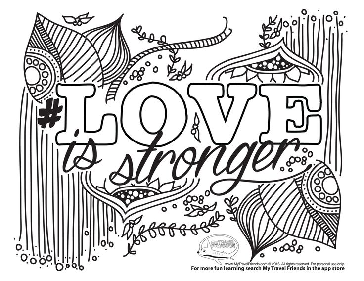Best Coloring Pages Fun 80 Love is stronger COLORING