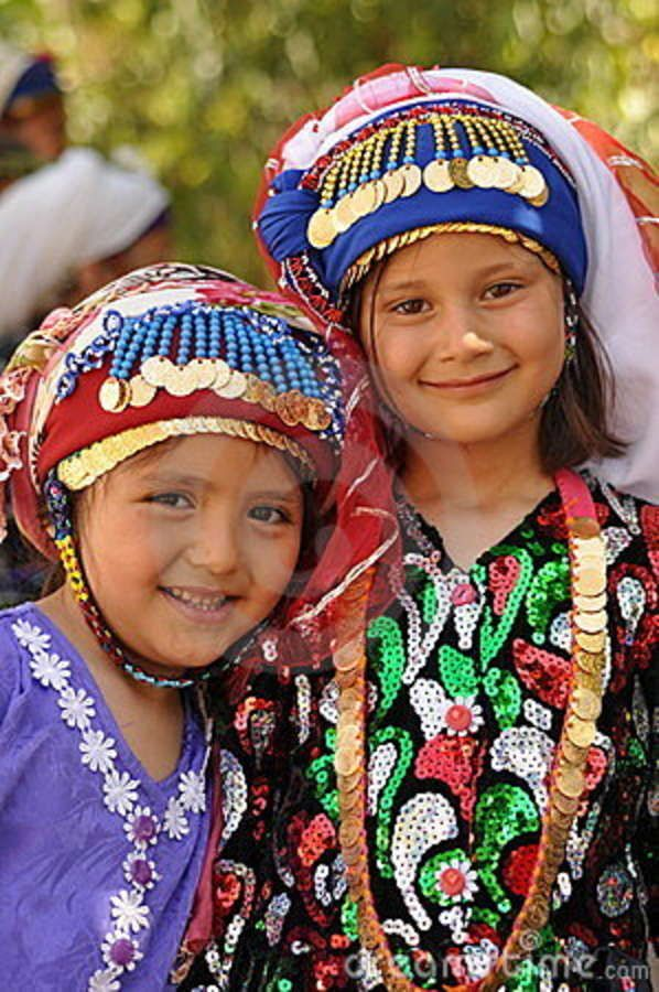 Turkish Girls In Traditional Cloth Stock