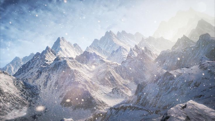 8K Ultra HD  Exotic View of Snow, Clouds
