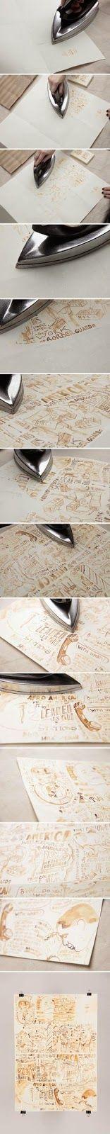 DIY milk on paper