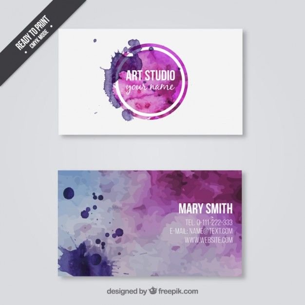 Business card for art studio Free Vector
