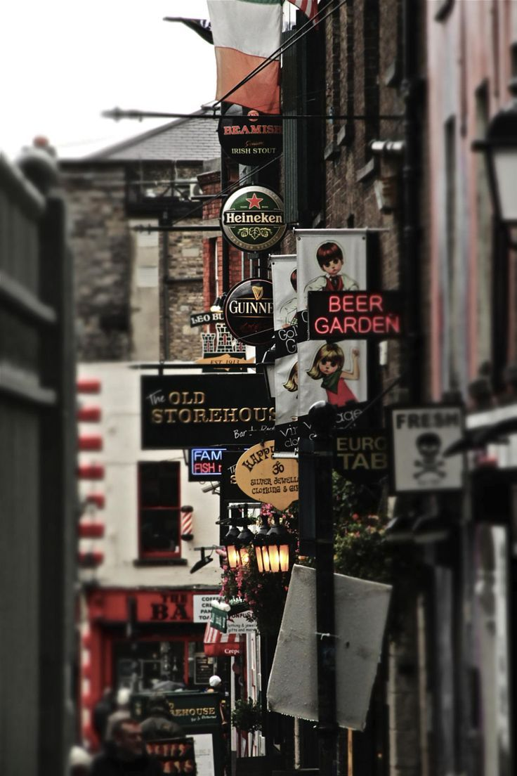 Street of Pubs, Dublin, Ireland