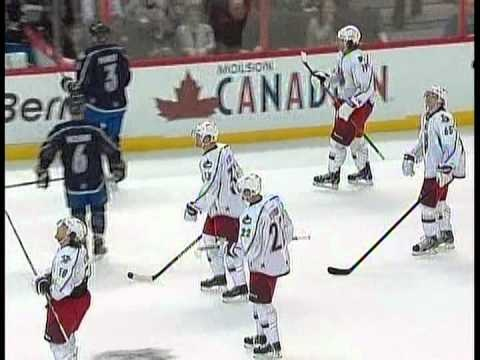 "Goal: Henrik Sedin. ""Suck It Phaneuf"" 2012 NHL All Star Game - Team Chara 3 Team Alfredsson 2."