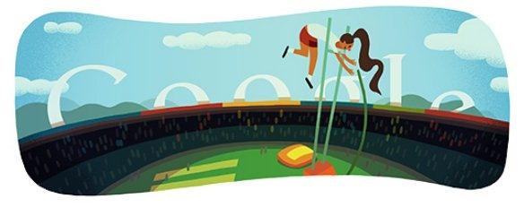 Olimpiadi Londra 2012 salto con l'asta: il 9° doodle olimpico aspettando la Isinbaeva