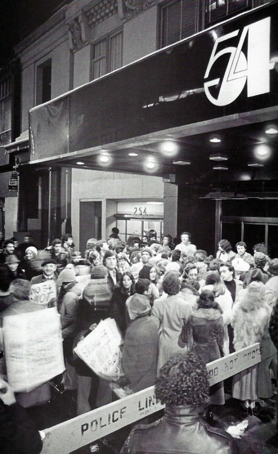 "superseventies: ""Crowds outside Studio 54, 1970s. "" 1970"
