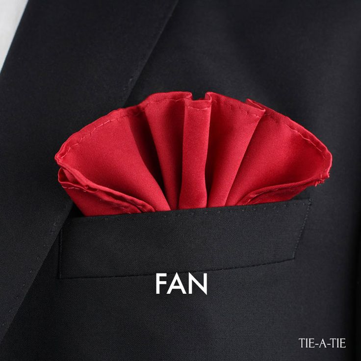 Mens Silk Pocket Square - red fan by VIDA VIDA Cheap Sale Clearance Cheap Sale Countdown Package Online Sale Top Quality For Sale V66nVgWNR1