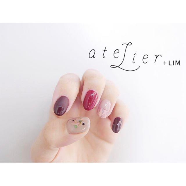 デザイン:西山 @nishiyama_nail. . 《バイカラー》 . #atelier#atelierlim#lim#アトリエ#アトリエリム#リム#lim#biiq#ネイル#nail#イーマ#西山nail