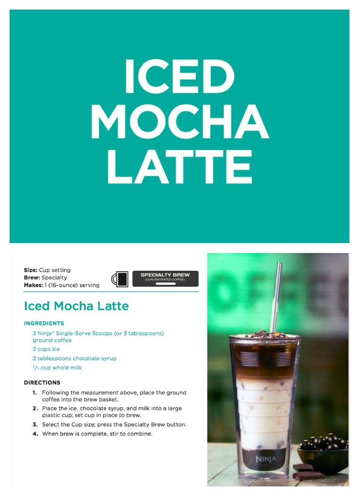 iced mocha latted coffee recipe