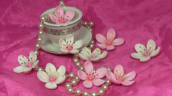 Gum Paste Sakura Cherry Blossoms with by SweetPerfectionCakes
