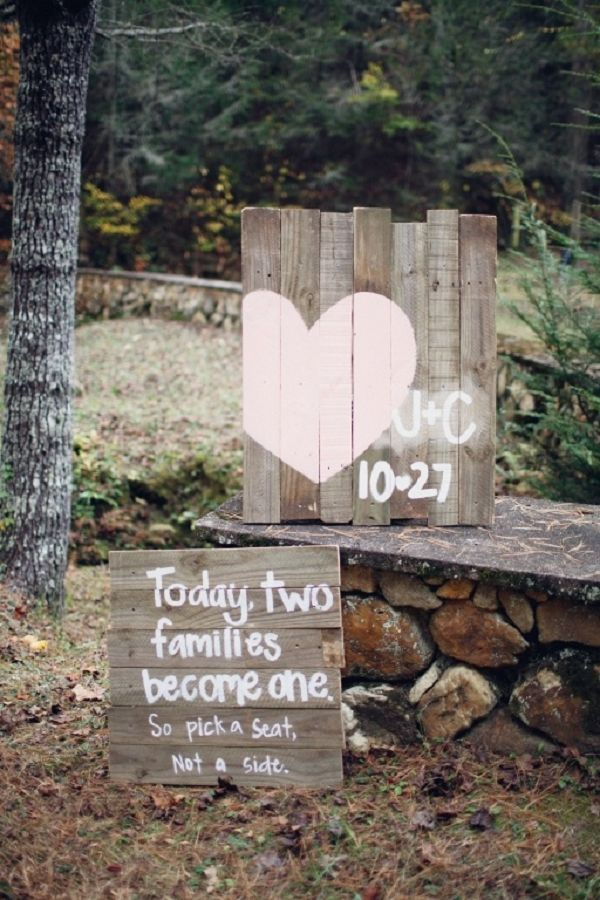 Rustic Vintage Wedding Signs