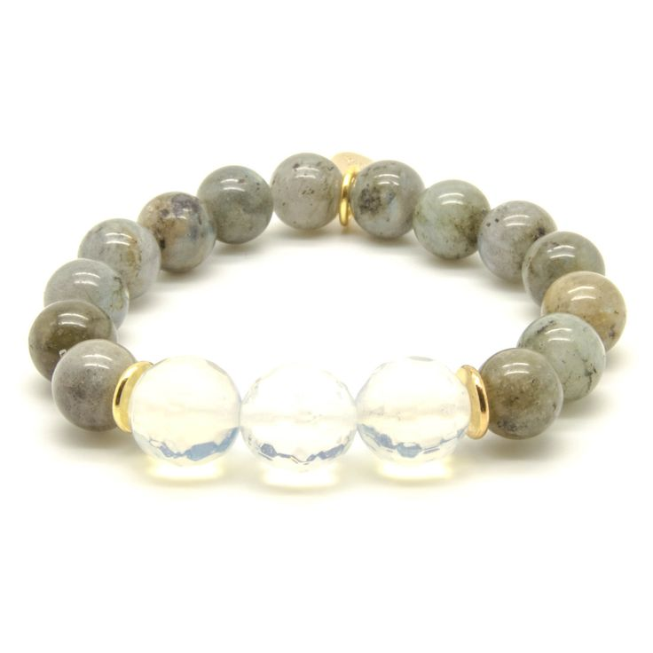 The Make You Miss Me Beaded Bracelet - Labradorite & Opal - LuEls