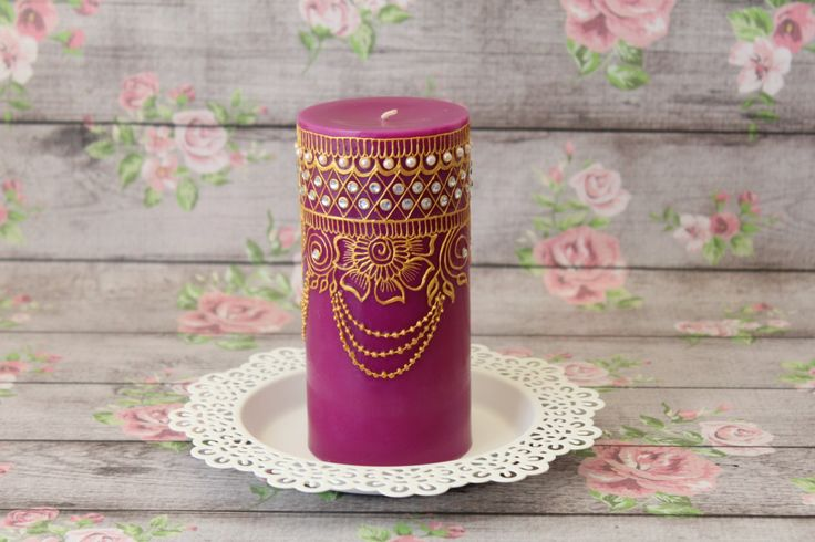 Henna Candles Henna Decor Henna Candle Candle by LavenderHenna