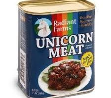 Weird food canned Unicorn meat?