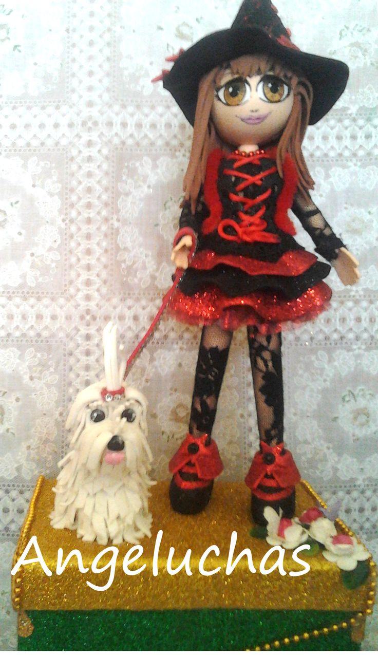 Fofuchas angeluchas: Muñecas fofuchas artesanales y personalizadas: Brujita