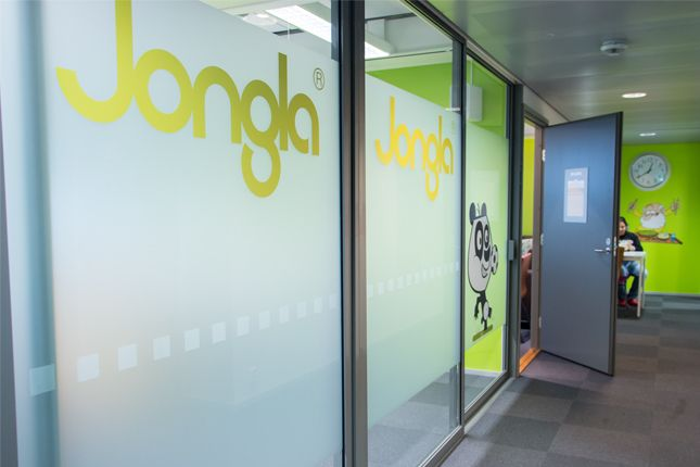 Jongla office is decorated according to our brand. Image by Tyba (http://tyba.com/company/jongla/)