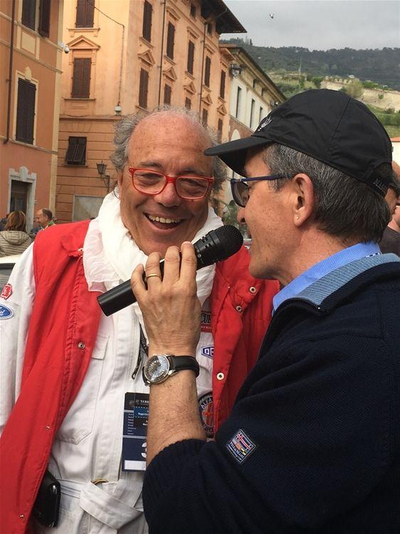 """The interview with the President Mr Villa during the race """"Gran Premio Terre di Canossa"""""""