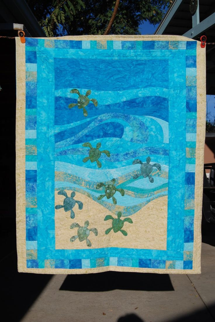 Baby Sea Turtle Baby Quilt