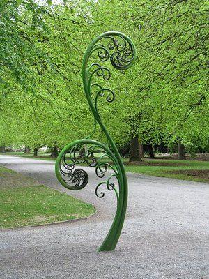 Rata Weekly  Gardens Sculptures  this is in New Zealand  but it looks like  a New England fiddlehead 959 best GARDEN ART   IDEAS images on Pinterest   Garden art  . Metal Garden Ornaments Nz. Home Design Ideas