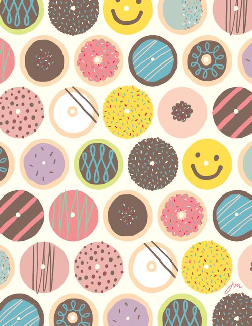beautifully illustrated donut patterns