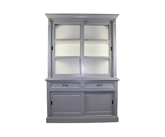 Buffetkast Justine, grijs/wit, H 220 cm