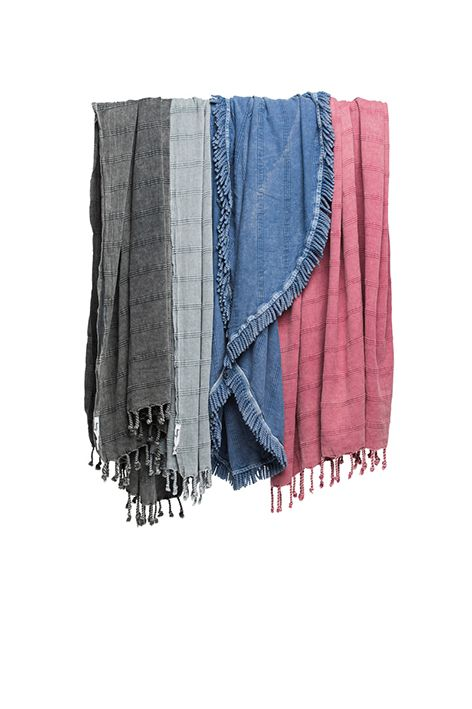 The hardest decision will be choosing which colour in our lovely new Stonewash Collection! Available in our standard size, a maxi/throw and the very popular Round towel online now at www.knotty.com.au