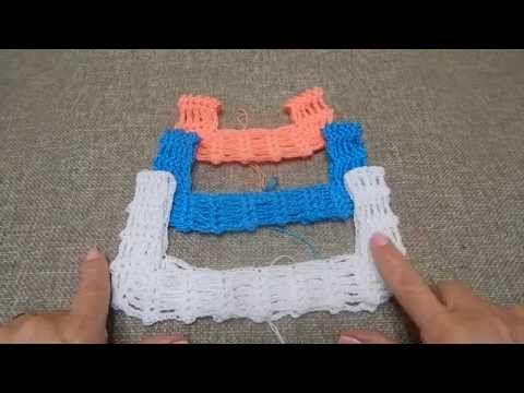 Barrado de crochê de duas cores parte2