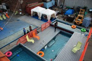 trendy shipping container swimming pool