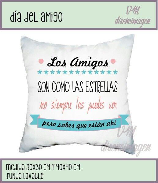 Almohadones deco dia del amigo regalos. Fan page VM diseñoimagen