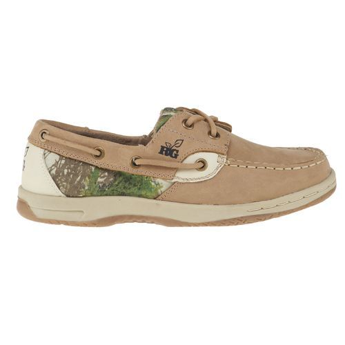 Realtree Womens Leather Boat Shoes