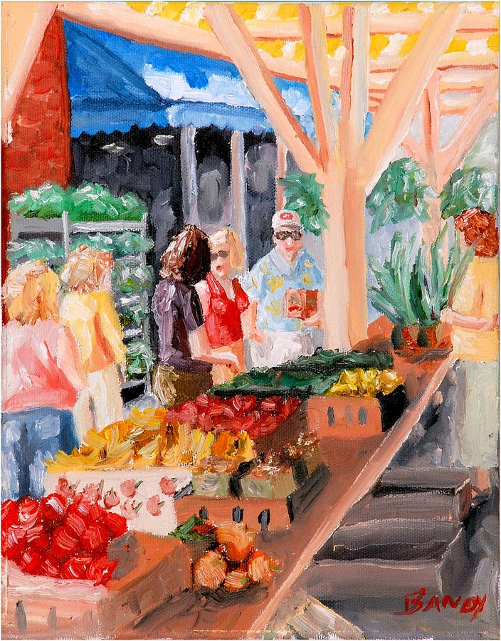 Roanoke City Market original oil painting by Todd Bandy.  Prints are available at toddbandyfineart.com and fineartamerica.com