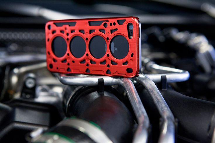 id America - Custodia Gasket V8 in Alluminio per iPhone 5 - Red - CoverStyle