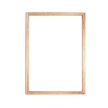 Simple picture frames by Danish design brand Moebe. The frames consist of 4 pieces of oak, 2 pieces of acrylic and a rubber band to secure. Place the frame on a shelf or use the rubber band to hang on your wall.