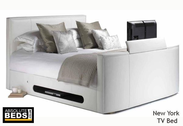 Leather New York TV Bed including LG Television