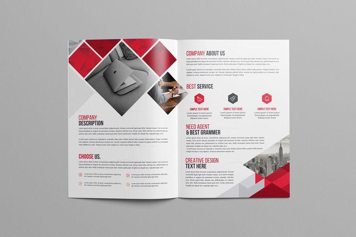 Print Bi-Fold Brochure Design 002922