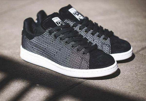 best service f2e21 e5639 Adidas Stan Smith Textile Core Black (1) Plus   Sneakers   Adidas, Ad…
