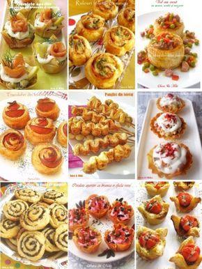 Aperitive din foietaj - Culorile din farfurie